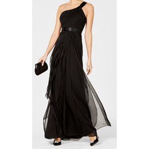 Adrianna Papell One Shoulder tiered dress A0778